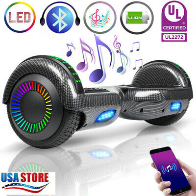 "6.5"" Bluetooth Hoverboard Electric Self Balancing Scooter Light no Bag UL black"