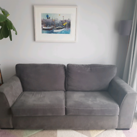 Dark grey 2 1/2 seater sofa