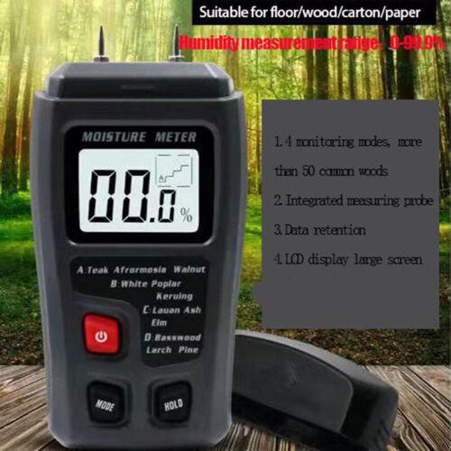 Wood Moisture Humidity Tester Meter Floor Carton Measurement