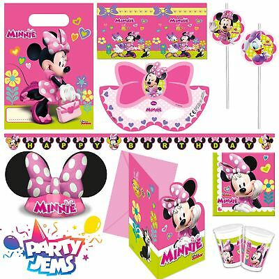 Disney Minnie Mouse Party Children's Birthday Tableware Decorations