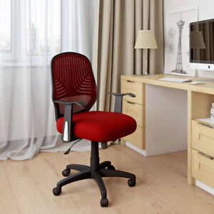CorLiving Mesh Task Chair - Red/Black - Model #: LOF-259-O