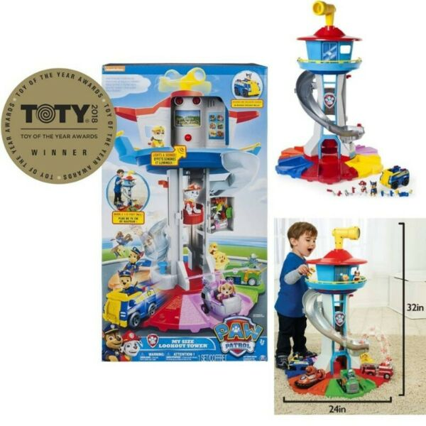 BNIB: PAW Patrol My Size Lookout Tower with Exclusive Vehicle, Rotating Periscope & Lights & Sounds