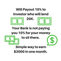 Looking for investor who wants to make a quick 10% on from $20K