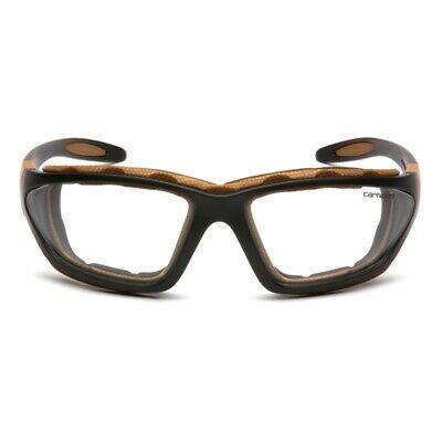 Carhartt CHB410DTP Carthage Safety Glasses Black/Tan Frame Clear Anti-Fog Lens Business & Industrial