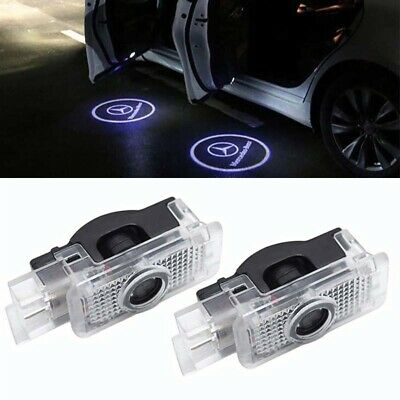 2x Led Logo Projektor Einstiegslicht Türlicht für Mercedes Benz W203 S203