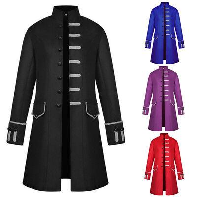 Retro Herrenmantel Gehrock Jacke Piratenkostüm Viktorianisch Smokinganzug M-3XL ()