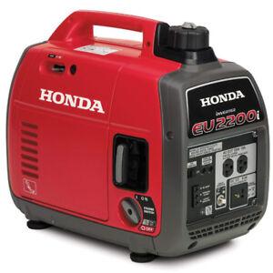 Propane modified Honda EU2200i Generator