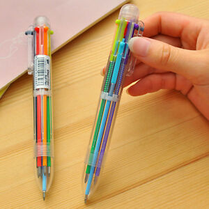 1pcs-6-Kind-Colors-Ballpoint-Pens-School-Stationery-Office-Supply-Plastic-Pens