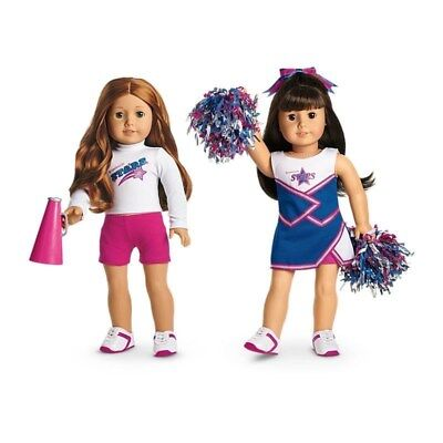 American Girl Truly Me 2-in-1 Cheer Gear Cheerleading Outfit Pompoms - Cheerleading Gear