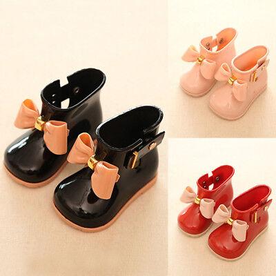 Säugling Baby Kinder Mädchen Non-Slip Gummistiefel Stiefel Regenstiefel Schuhe Non-slip-gummi