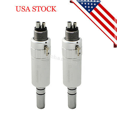 2x Us Dental 4-hole Slow Low Speed Handpiece Contra Angle Air Motor Iso Standard