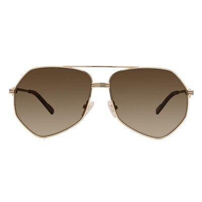 Diff Eyewear Sunglasses Sydney NEW $85 Gold Frame w/ Brown Gradient Polarized