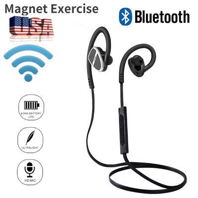 Sport Bluetooth Headphones Wireless Neckband Earbuds In Ear