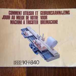 Knitting machine Brother KH840 plus Intarsia carriage West Island Greater Montréal image 3
