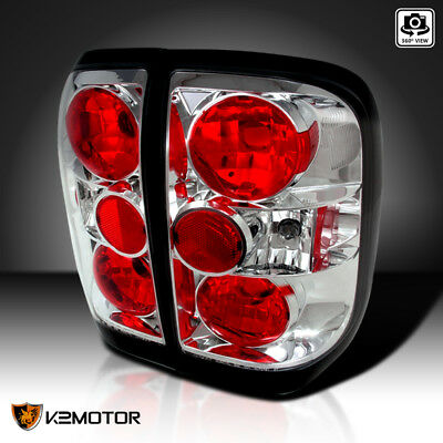 Tail Stop Lights Chrome Set For 1996-2004 Nissan Pathfinder 97 Nissan Pathfinder Tail Light