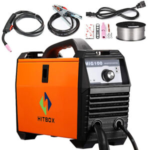 Inverter MIG Welder 100A 90-125V 0.8mm Flux-cored Wire IGBT Weld