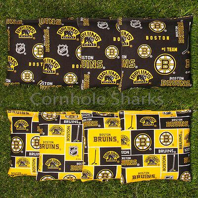 All Weather Resin Washable Boston Bruins Cornhole Bean Bags Aca Regulation Bags