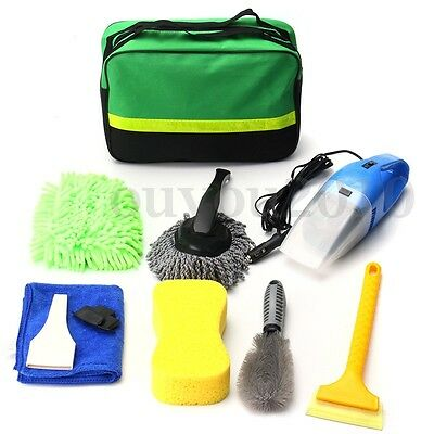 8X Car Washer Interior&Exterior Cleaning Kit Vacuum Cleaner+Shovel+Sponge+Glove - Exterior Car Cleaning Kit