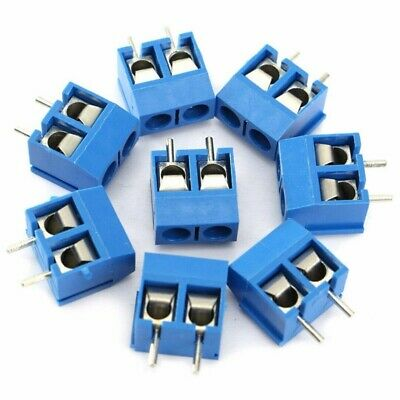 40x 2pin Screw Terminal Block Connector 5.08mm Pitch Panel Pcb Mount Set Diy Kit