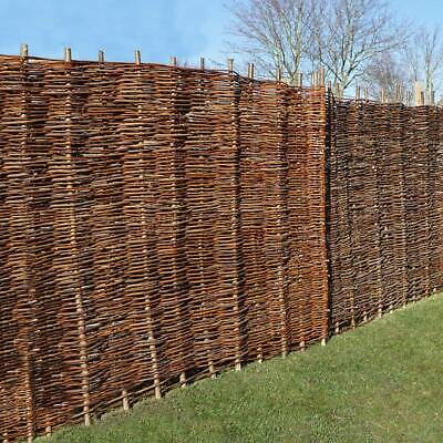Willow Hurdle Fence Panels - Two panels each 182 x 182cm 6ft x 6ft