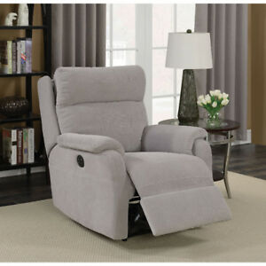 Brand new Power Recliner chair Marsellus Contemporary Suede