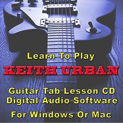 KEITH URBAN Guitar Tab Lesson CD Software - 10 Songs      on Rummage