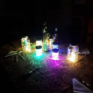 Beautiful lluminated mason jars with LED lights (3 for 10$)