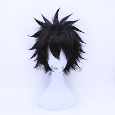 Halloween Costumes Black Wigs (My Boku no Hero Academia Dabi Wig Black Short Cosplay Costume Wigs)