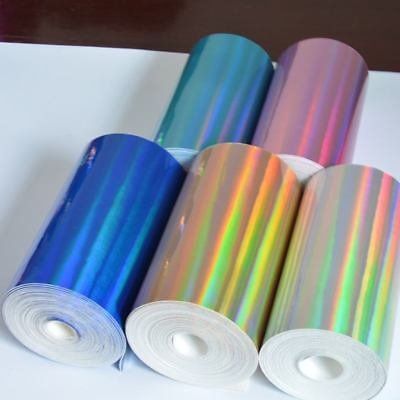 Mirrored Holographic Fabric Shiny Faux Leather for Bows Bags Dress Cloth Crafts