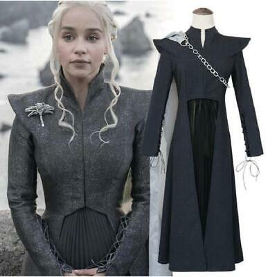 Game of Thrones 7 Mother of Dragons Cosplay Daenerys Targaryen Costume Outfits - Game Of Thrones Outfits