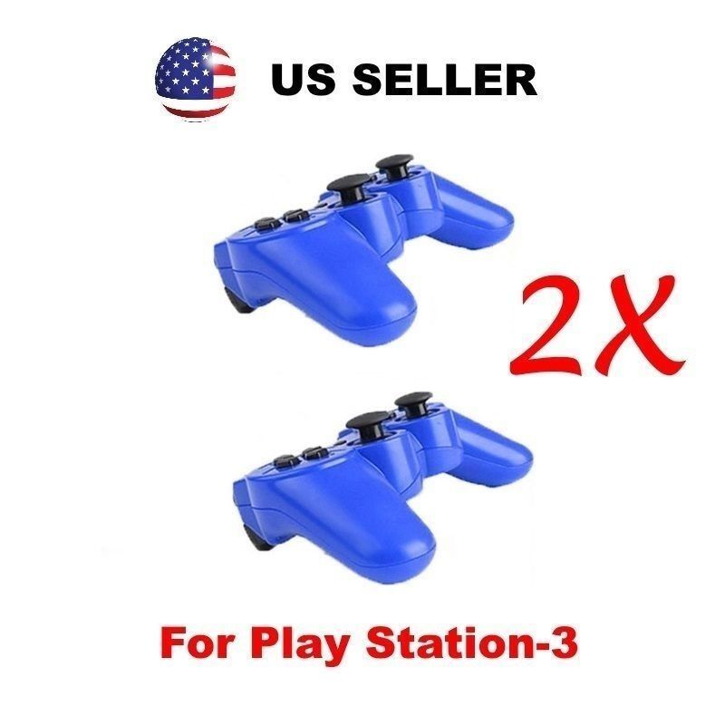 Lot of 2 New Wireless Bluetooth Game Controllers For Sony PS3 Playstation 3
