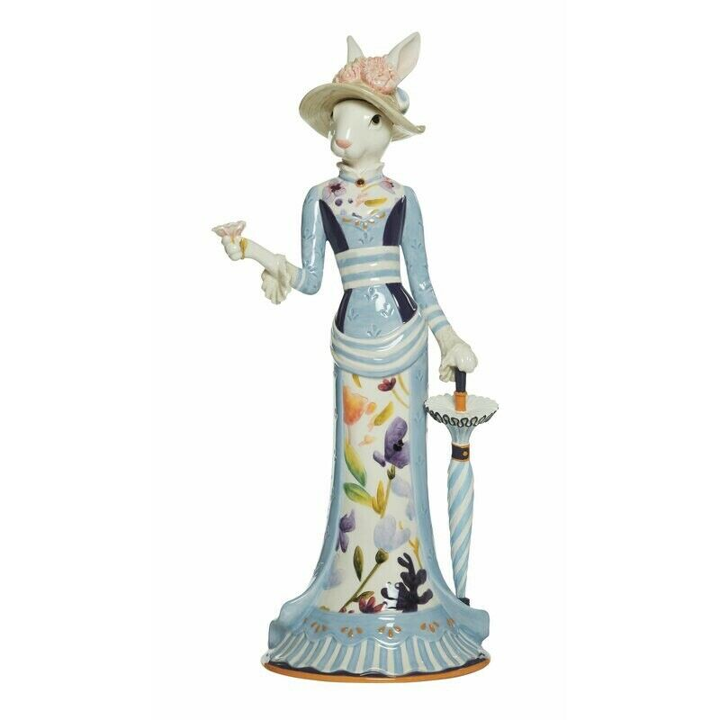 "Fitz and Floyd ""Floral Splash"" Female Rabbit Figurine"
