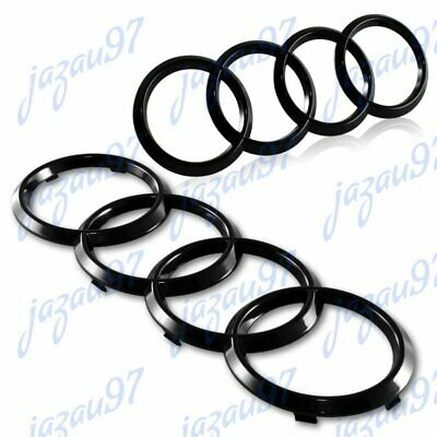 Emblem SET For Audi A3 A4 S4 A5 S5 A6 S6 SQ7 TT Badge Rings Black Front+Rear