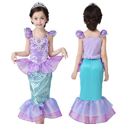 Mermaid Tail Costume The Little Ariel Princess Party Fancy Dress For Kids Girls ](Mermaid Costumes For Little Girls)