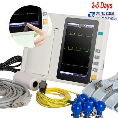 Ecg-301 Touch Digital 3channel Ekg Machine Electrocardiograph 12 Lead Lcd Fda