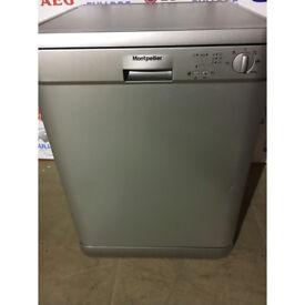 Montpellier DW1254S Full Size Dishwasher - Silver