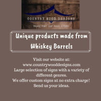 Unique products made from Whiskey Barrels