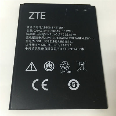 Original Battery Li3821T43P3h745741 For ZTE Blade L5 Plus C370 2150mAh 3.8V