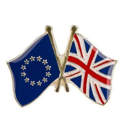 EU EUROPEAN UNION UK UNITED KINGDOM FRIENDSHIP FLAG ENAMEL PIN BADGE BRAND NEW