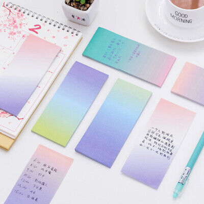 Notebook Rainbow Colorful Study Paper Office Supply Memo Pad Writing 1 Set