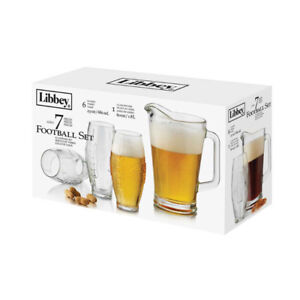 NEW: Libbey 7-piece Football Pitcher and Tumbler Set(Best Gift)