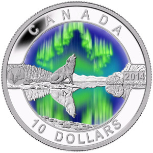 "2014 ""THE NORTHERN LIGHTS"" SILVER COIN - MINT CONDITION!!!"