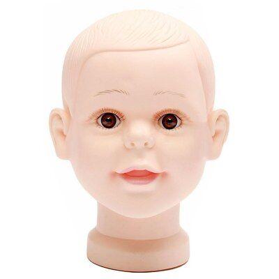 Children Mannequin Baby Dolls Shop Window Dolls Head Cap Glasses T3p2