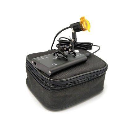 3w Led Dental Medical Head Light Lamp With Filter Metal Clip-on Headlight Black