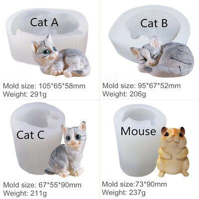 Cat & Mouse Silicone Mold Animal Bakeware Mousse Cake Chocolate Baking Mold NEW