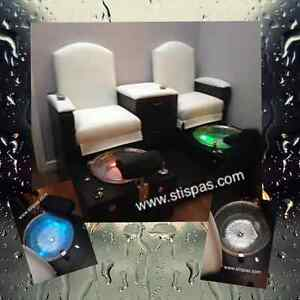 Pipeless bench Pedicure chair & spa also barber salon equipment