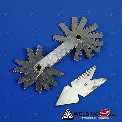 Screw Thread Pitch Cutting Gauge Tool Inpection Setcentre Gage 55 Inch 2pcs