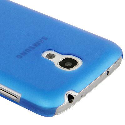 Samsung i9190 i9195 Galaxy S4 Mini - Coque arrière rigide translucide - Bleu