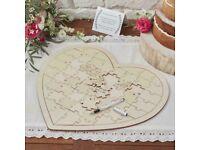 Wedding jigsaw guest book