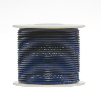 30 Awg Gauge Stranded Hook Up Wire Blue 250 Ft 0.0100 Ptfe 600 Volts